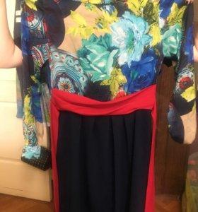 Платье красивое и бежевая юбка Манго