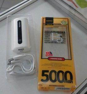 Внешний аккумулятор 5000 mah