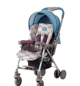 Продам прогулочную коляску happy baby. Голубая