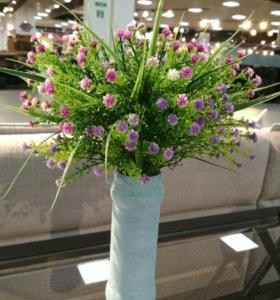 Ваза ручной работы+ искусственные цветы