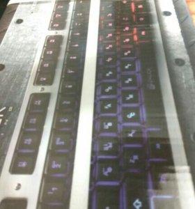 Новая игровая клавиатура с крутой подсветкой