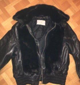 Кожаная куртка Korta с мехом кролика для мальчиков