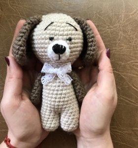 Собачка вязанная HanbMade