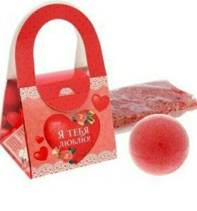 Подарочный набор в сумочке «Я тебя люблю»