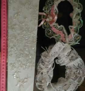 Свадебные перчатки и подвязка