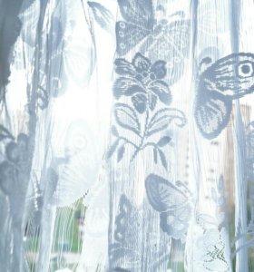 Нитяной занавес с бабочками (кисея)