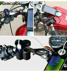 Прикуриватель с USB для мотоцикла.