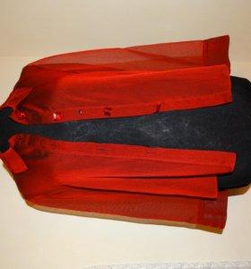 Блузка, шифон с вышивкой, новое состояние