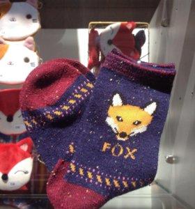 Носочки с лисичками разные
