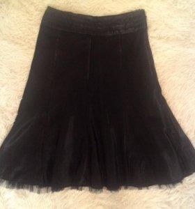 Атласная юбка с подъюбником. Производство Турция