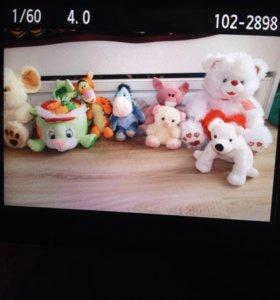 16 игрушек+ мешок для игрушек(новый) + ночник+кукл