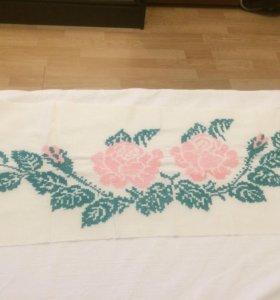 Салфетка, винтажная вышивка крестиком