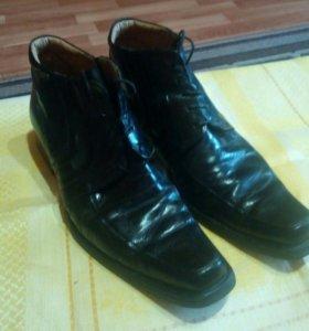 Ботинки мужские кожаные Италия