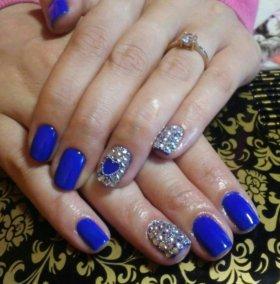 Покрытие натуральных ногтей шеллаком( гель лаком)