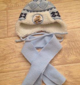 Зимние шапочка+шарф.