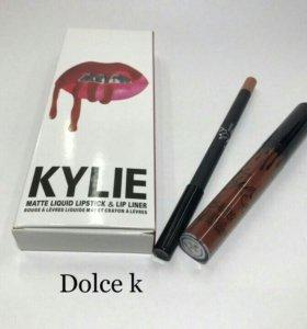Матовая помада и карандаш для губ KYLIE