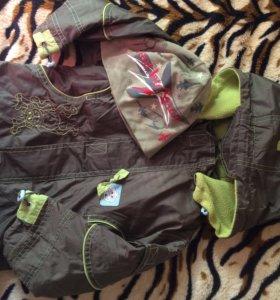 Куртка весна-осень +новая шапка в подарок