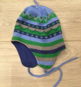 Новая детская шапка SELA 1-6мес.