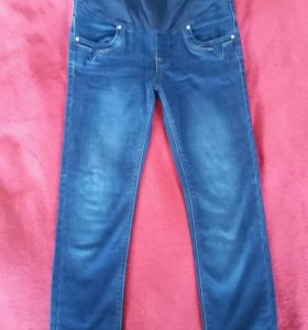 Утепленные джинсы для беременных 44 размер