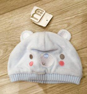 Новая шапочка Mothercare 2-5мес.