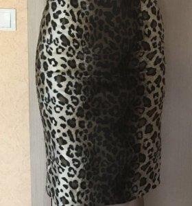 Юбка леопардовая ОСЕНЬ-ЗИМА
