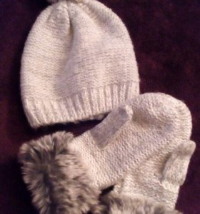 1 Набор шапка и варежки