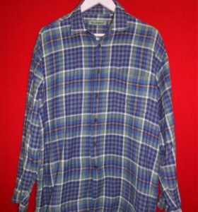Винтажная рубашка в клетку Lerros
