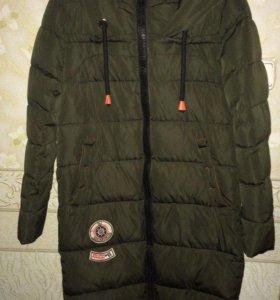 Зимнее женское пальто(пуховик). Как новое.