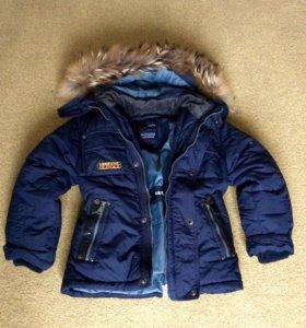 Куртка пуховая 2-х слойная с натуральным мехом