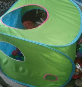 Детская палатка с шариками.