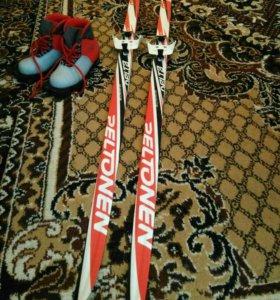 Лыжи детские + ботинки