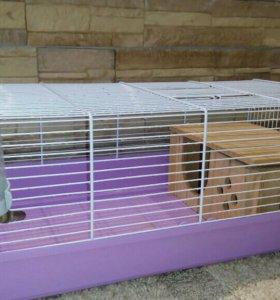 Клетка для свинки или крыски с домиком и поилкой