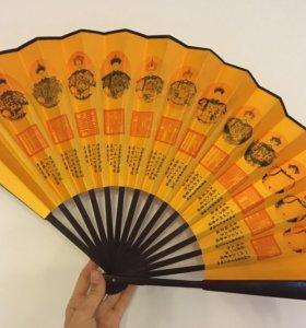 Декоративный веер из Китая новый