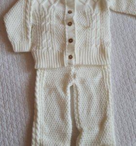 Новые детские вязаные костюмы. 6-12 месяцев.