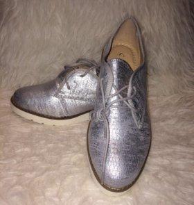 Ботинки, мягкая состаренная иск.кожа р.38-37,5 нов