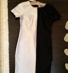 Черно-белое,модное,повседневное платье,