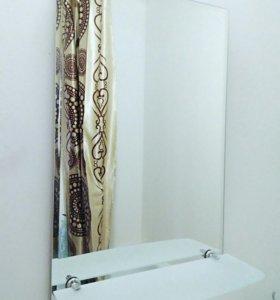 Зеркало в ванную с полкой новое в упаковке