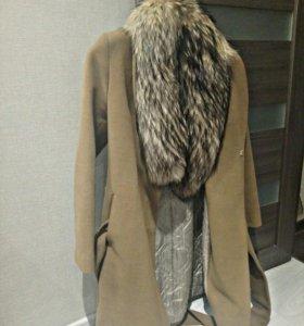 Пальто, мех песец