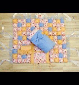 Набор для кроватки ( бортики и одеяло)