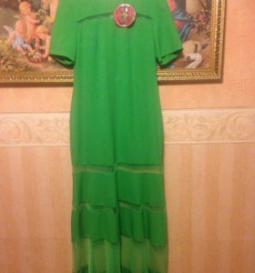 Платье в пол , стильное. (Турция )