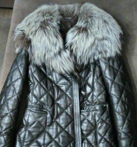 Зимняя кожаная куртка Laplandia(р.46)