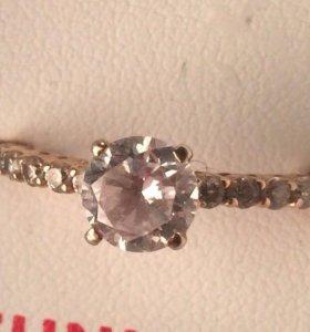 Позолоченное серебряное кольцо