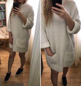 Платье-свитер/свитер oversized из шерсти Альпаки