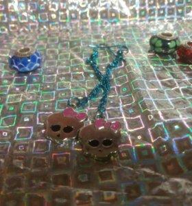 Серьги для девочки Monster High, не б/у