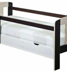 Кровать подростковая с ящиком для белья новая