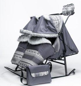 Сани-коляска для двойни и погодок