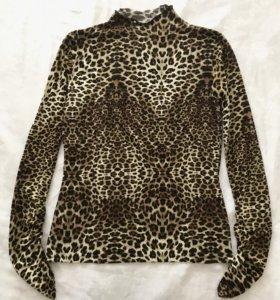 Кофта футболка с леопардовым принтом