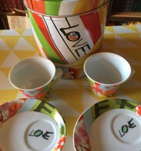 Продаю новый очень стильный чайный набор!