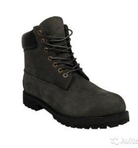 Ботинки Timberland 10061 Grey c мехом (41-45)