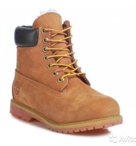 Ботинки Timberland 10061 Rust с мехом (41-45)